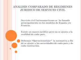 ANALISIS COMPARADO DE REGIMENES JURIDICO DE …