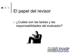 El papel del evaluador