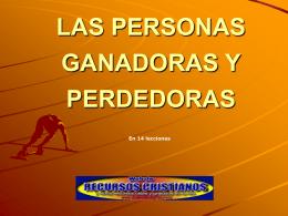 GANADORES O PERDEDORES