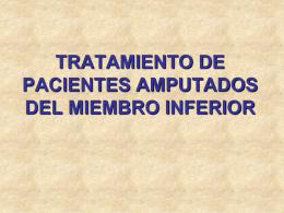 TRATAMIENTO DE PACIENTES AMPUTADOS DEL …