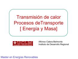 Transferencia de Calor - Universidad de Castilla