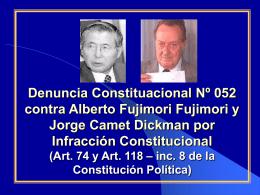 Denuncia Constituacional a Alberto Fujimori Fujimori y a