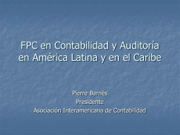 CPD in Accounting and Auditing in Latin America and the