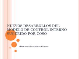 NUEVOS DESARROLLOS DEL MODELO DE CONTROL …
