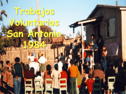 TRABAJOS VOLUNTARIOS SAN ANTONIO 1984