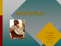 ARISTOTELES - pagina principal
