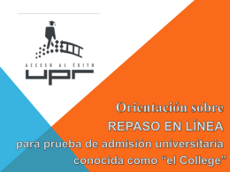 Presentacion a Directores - Proyecto College Challenge