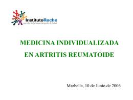 ARTRITIS REUMATOIDE: La enfermedad y sus cifras.