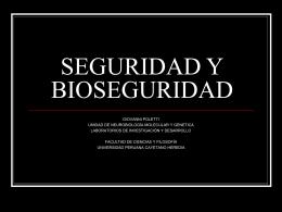 SEGURIDAD Y BIOSEGURIDAD