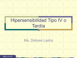 Hipersensibilidad tipo IV o Retardada (DTH)