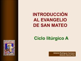 Intro Evangelio S. Mateo