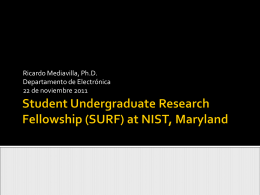 Student Undergraduate Research Fellowship (SURF) at …