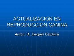 ACTUALIZACION EN REPRODUCCION CANINA