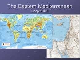 The Eastern Mediterranean Chapter #20