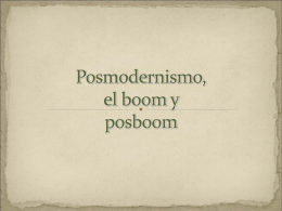 El Boom y Post-Boom