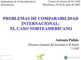 PROBLEMAS DE COMPARABILIDAD INTERNACIONAL: EL …