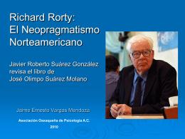 Richard Rorty: El Neopragmatismo Norteamericano …