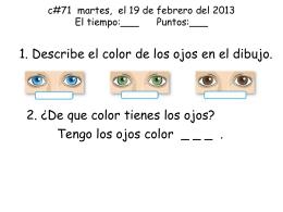 c#71 martes, 19 de febrero de 2013 El tiempo:___ Puntos:___