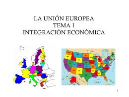 TEORIA DE LA INTEGRACION ECONOMICA