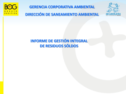 Diapositiva 1 - Empresa de Acueducto de Bogot&#225