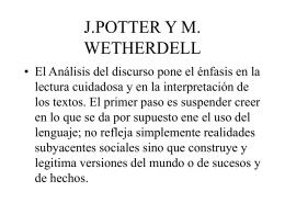 J.POTTER Y M. WETHERDELL - UCM