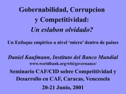 Corrupcion y Captura (GCS 2001)