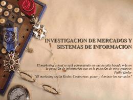 TEMA TRES: INVESTIGACION DE MERCADOS Y SISTEMAS …