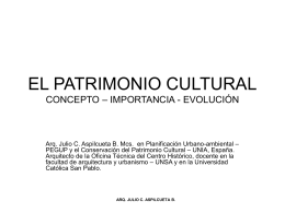 EL PATRIMONIO CULTURAL CONCEPTO – IMPORTANCIA  …