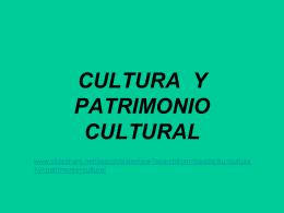 CULTURA PATRIMONIO TURISMO