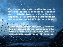 ARAIA = ARAYA - www.laasparrenaquequeremos.es