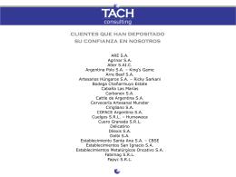 Diapositiva 1 - Tach Consulting