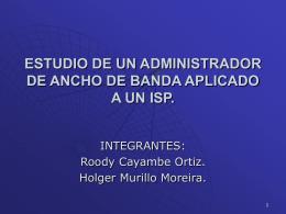 ESTUDIO DE UN ADMINISTRADOR DE ANCHO DE BANDA …
