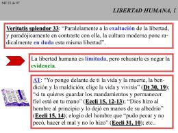 LIBERTAD HUMANA, 1 - CAMINANDO CON JESUS