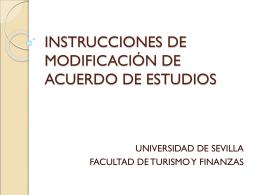 INSTRUCIONES DE MODIFICACION DE ACUERDO DE …