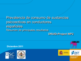 Prevalencia de consumo de sustancias psicoactivas en