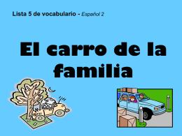 Vocabulario Lista 5 cuento 1