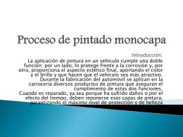 Proceso de pintado monocapa