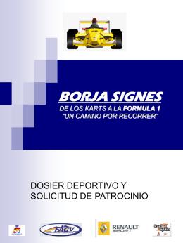 "BORJA SIGNES DE LOS KARTS A LA FORMULA 1 ""UN …"