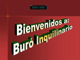 Diapositiva 1 - BURO INQUILINARIO