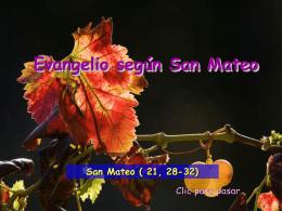 Evangelio San Mateo 21, 28-32