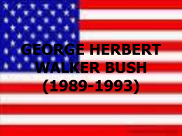 GEORGE HERBERT WALKER BUSH (1989