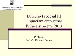 Derecho Procesal Penal - Facultad de Ciencias Juridicas y