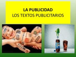 LA PUBLICIDAD LOS TEXTOS PUBLICITARIOS