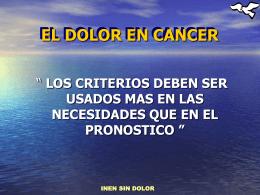 TRATAMIENTO DEL DOLOR EN CANCER DE MAMA