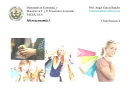 Clase 4 Microeconomia I