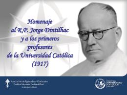 Homenaje al R.P. Jorge Dintilhac y a los primeros