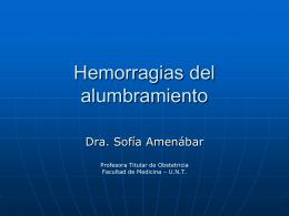 Hemorragias del alumbramiento - Facultad de Medicina