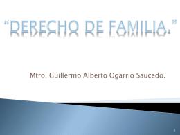 "DERECHO PROCESAL FAMILIAR."""