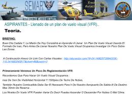 Llenado de un plan de vuelo VFR