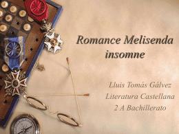 Romance Melisenda insomne